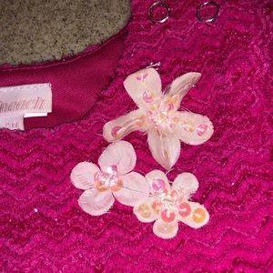 cach cach One Pieces - 3 mo Cach Cach Fuschia Snow Flowers NWT